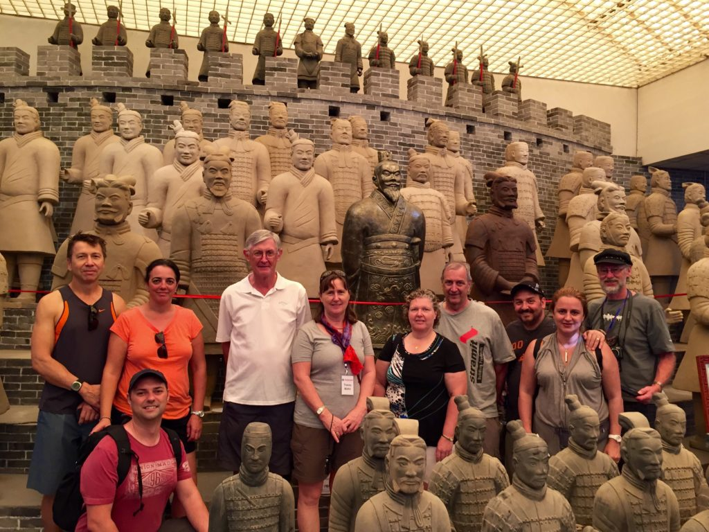 Some of the participants at the BDAV's 2015 China Study Tour