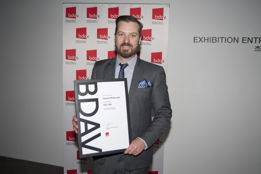 Pictured is Alastair McDonald after being elevated to Fellow of the BDAV