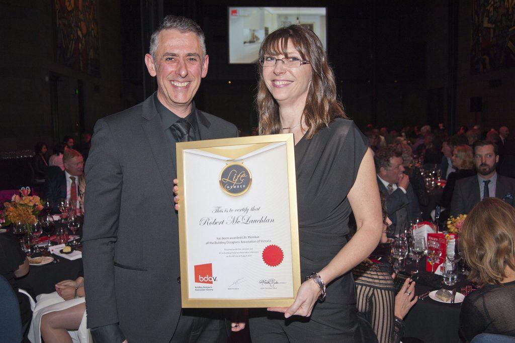 Diana Hodgson received the Life Member certificate  from BDAV President, Lindsay Douglas, on behalf of her father, Robert McLauchlan