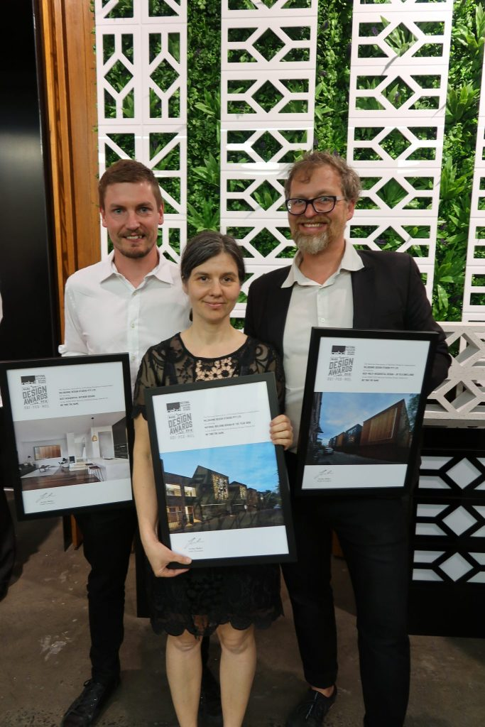 The team from Melbourne Design Studios at the NABD Awards