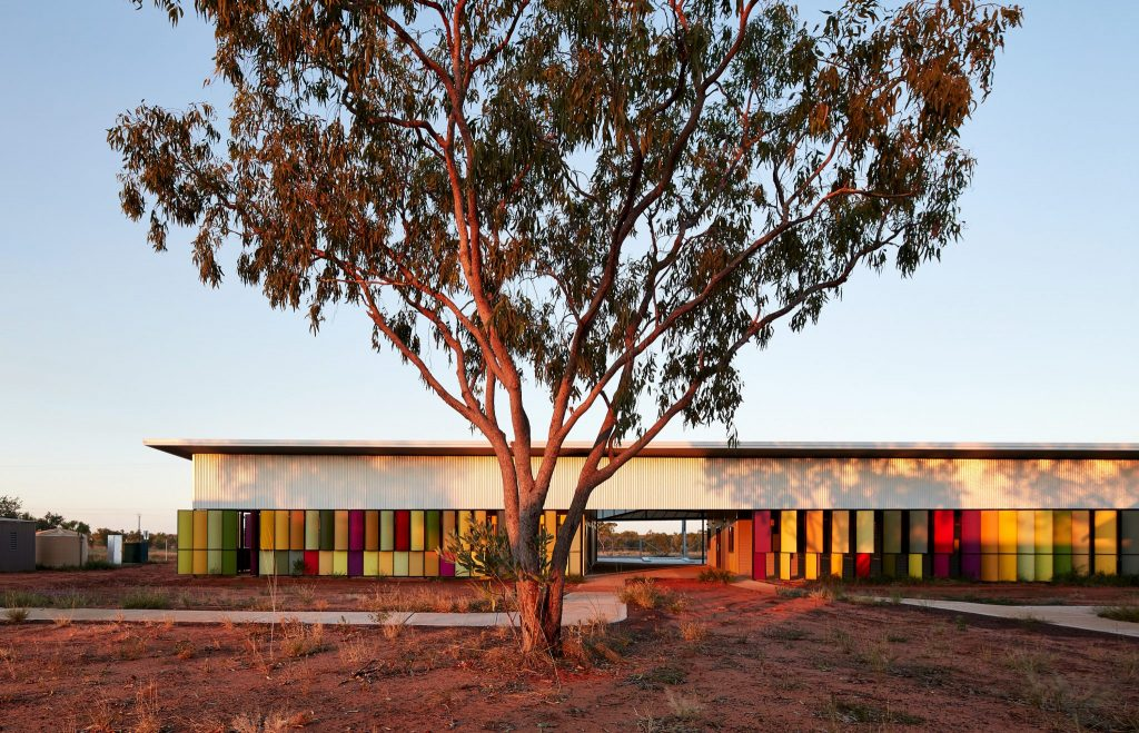Pictured is the 2018 Grand Prix and Commercial Exterior Winner: Fitzroy Crossing Renal Hostel in WA by Iredale Pedersen Hook Architects